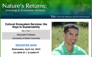 Kai's webinar for Yale University Centre for Business and the Environment is online